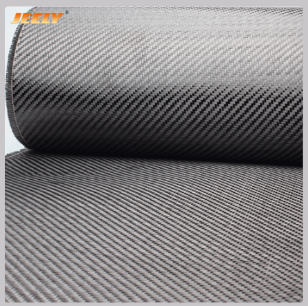 3K 6K 12K Carbon Fiber Fabric Plain Twill Satin Weave Cloth 1m Wide For Surfboard