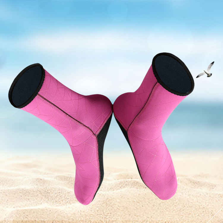 3mm warm diving socks comfortable non-slip winter swimming snorkeling socks adult woman super elastic beach socks