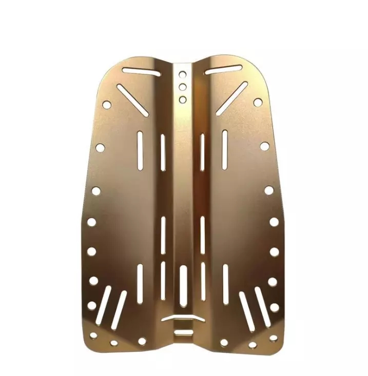 Aluminum alloy single tank diving backplate