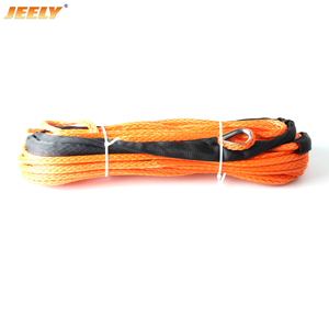 jeely 6mm*30m 12 strand off-road uhmwpe synthetic towing winch rope with 1.5m sleeve and thimble for ATV/UTV/SUV/4X4/4WD