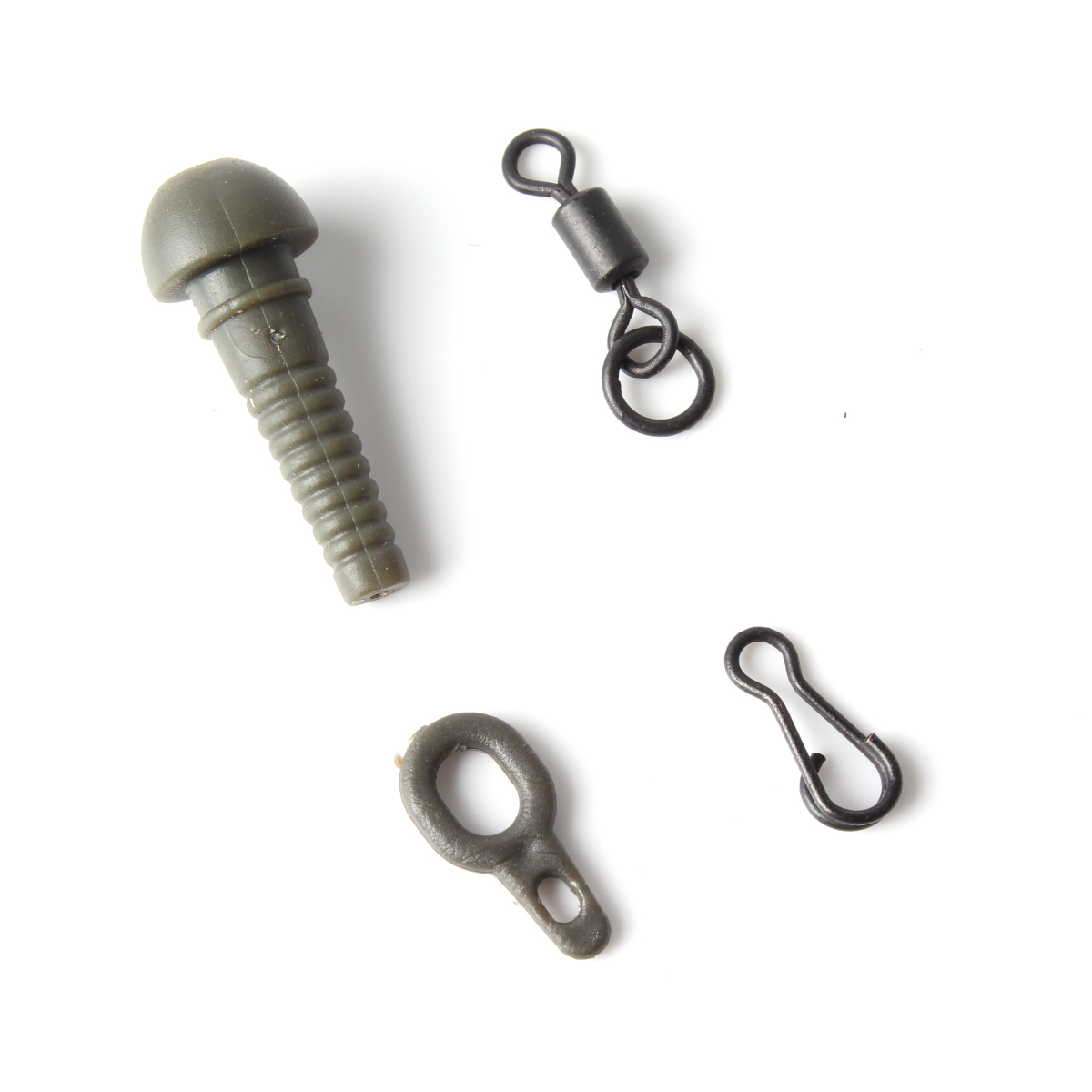 carp fishing terminal rigs set fishing safety sleeve lead rolling swivels run ring hook snap