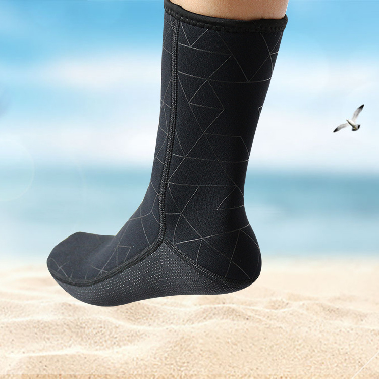 Diving Thick 3mm warm diving socks comfortable non-slip winter swimming snorkeling socks adult men's elastic beach socks