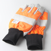 Cowhide Leather Cut Resistant Chain Saw Work Gloves