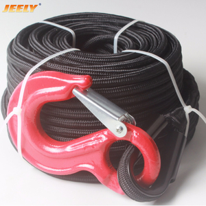 10mm*30m UHMWPE Fiber Core with Polyester Jacket Double Braided Winch Rope