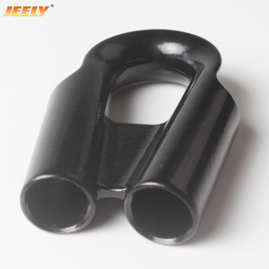 Tube Type Black Color Stainless Thimble For Winch Rope