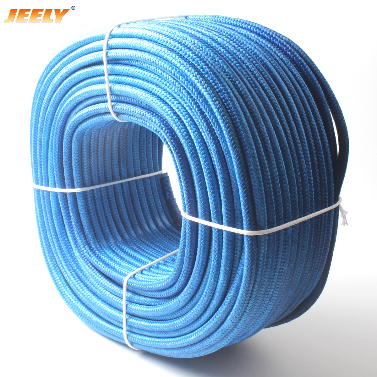 300m 10mm UHMWPE Fiber Core with Polyester Jacket Anchor Towing Rope Winch Rope