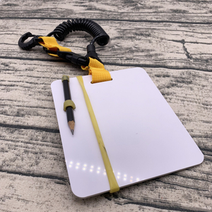 Jeely DIVING Underwater Writing Slate Diving Wordpad Gear Board with Swivel Clip and Pencil for Water Sports Diving Swimming
