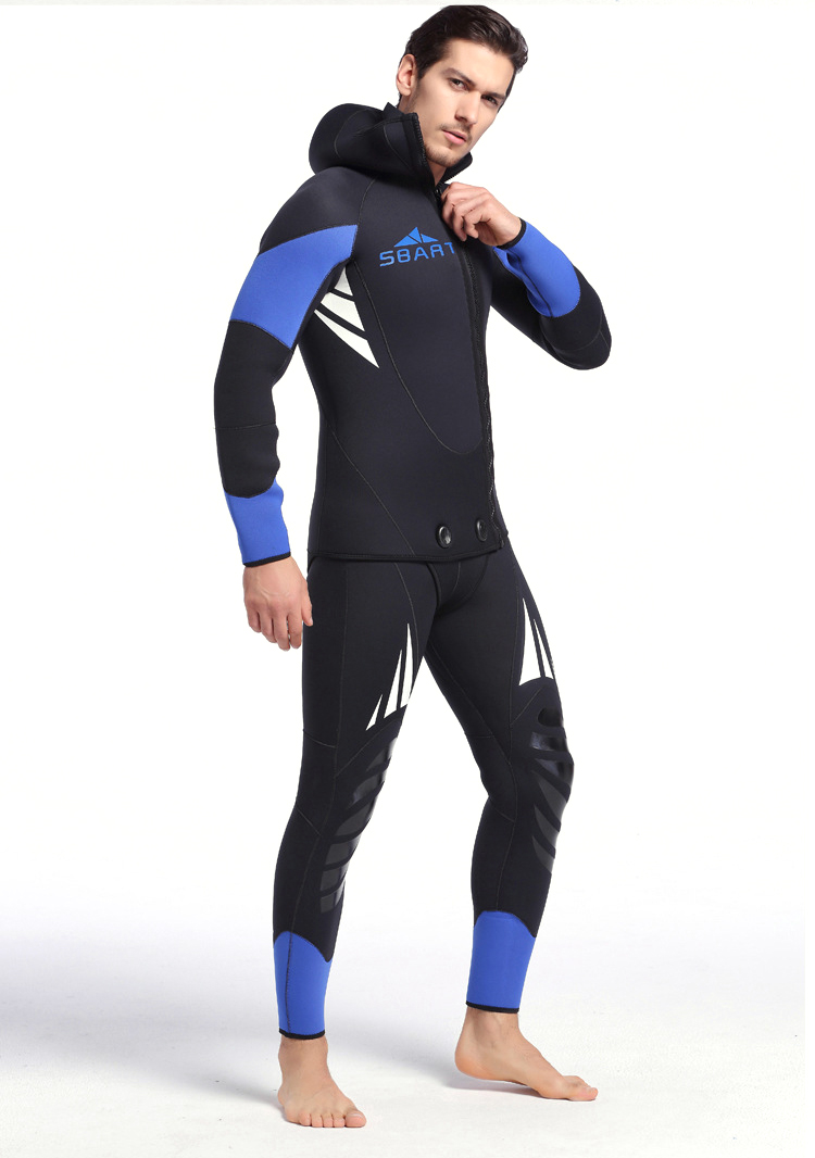 Jeely 5MM Neoprene Wetsuit For Man Scuba Diving Surfing Snorkeling Spearfishing jumpsuit