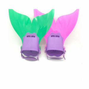 Children Scuba Soft Mermaid Tails Swimming&Diving Training Fins
