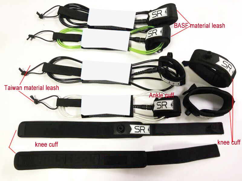2ft-12ft Customized 5mm/6mm/7mm/8mm/9mm Taiwan or Germany TPU Surf Leash/Paddle Leash/Surfboard Leash Ankle Cuff Knee Cuff