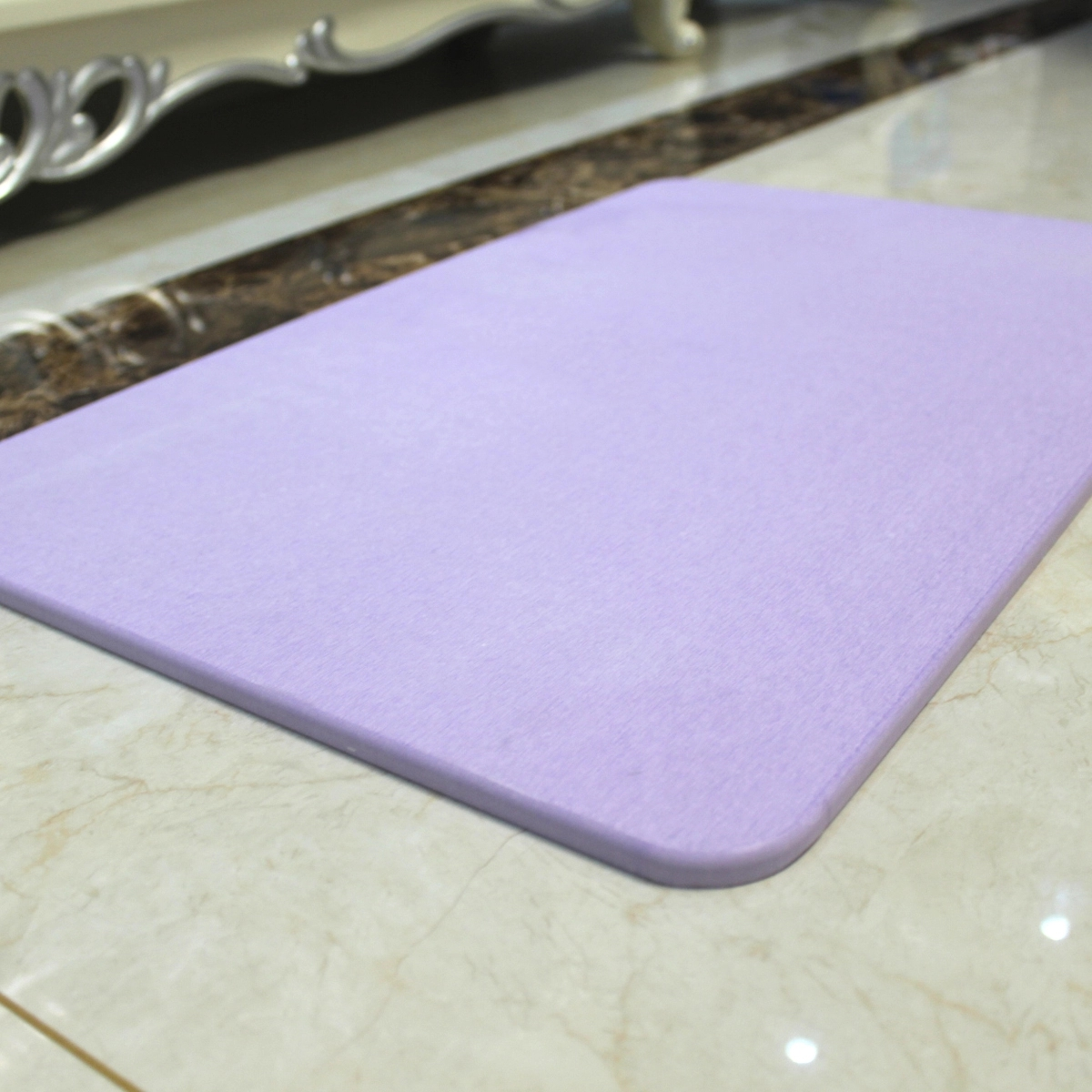 Color Printing Stone Pattern Absorbent Diatomite Bath Mat 350mm*450mm