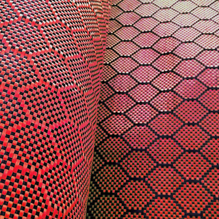 240gsm hexagonal Honeycomb Carbon Fiber Aramid Hybrid Fabric
